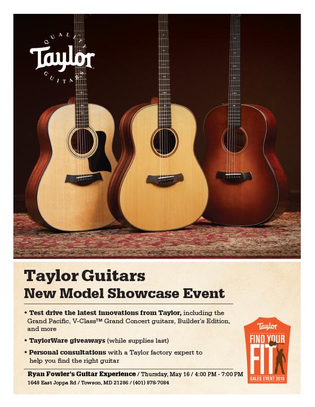 Taylor Guitars New Model Showcase May 16, 2019 - Ryan Fowler's